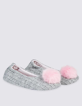 Kids' Pom Ballerina Slippers