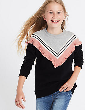 Frill Detail Sweatshirt (3-14 Years)