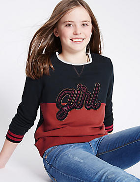 Cotton Rich Long Sleeve Sweatshirt (5-14 Years)