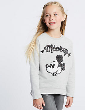 Mickey Mouse™ Sweatshirt (3-16 Years), GREY MARL, catlanding
