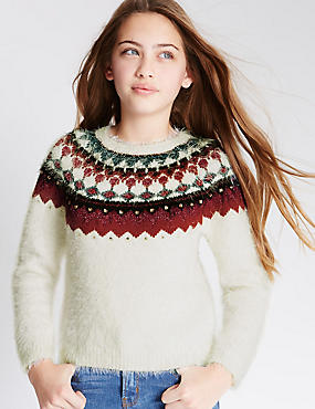 Embroidered Eyelash Jumper (5-14 Years)