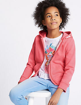 Cotton Blend Hooded Sweatshirt (3-16 Years)