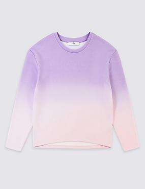 Cotton Rich Sweatshirt (3-16 Years), PINK MIX, catlanding