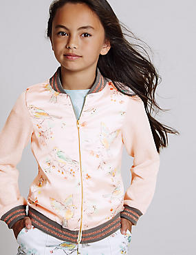 Cotton Rich Printed Bomber Jacket (3-14 Years)
