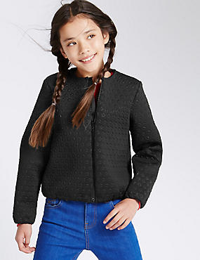Star Embossed Bomber Jacket (5-14 years)