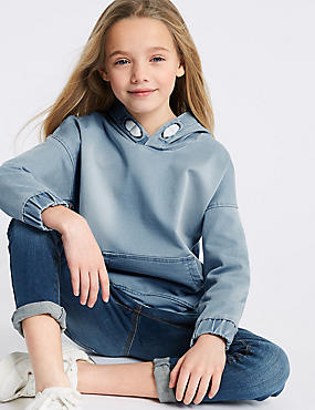 Cotton Rich Hooded Sweatshirt (3-16 Years)