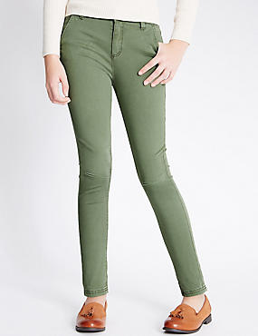 Cotton with Stretch Skinny Fit Jeans (5-14 Years)