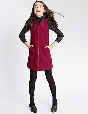 Pure Cotton A-Line Cord Shift Dress (5-14 Years)