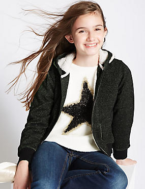 Sparkle Hooded Top (3-14 Years)