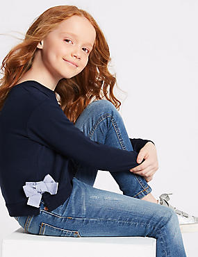Side Bow Sweatshirt (3-16 Years)