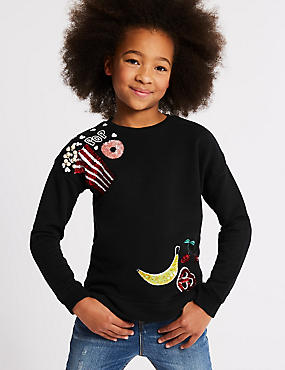 Popcorn Sequin Sweatshirt (3-16 Years)