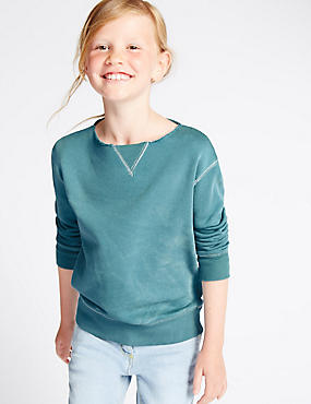 Cotton Rich Round Neck Sweatshirt (3-14 Years)