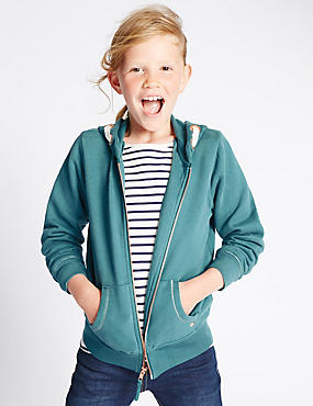 Cotton Rich Hooded Sweat Top (3-14 Years)