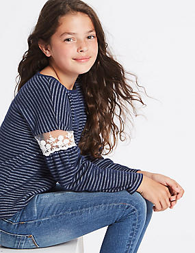 Cotton Rich Striped Sweatshirt (3-14 Years)