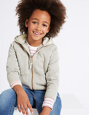 Cotton Rich Hooded Sweatshirt (3-14 Years)