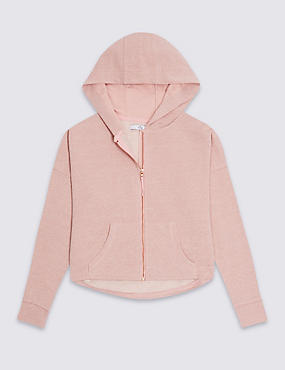 Cotton Blend Hooded Top (3-14 Years)