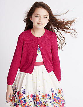 Pure Cotton Cardigan (3-14 Years)