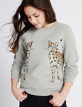 Animal Print Sweatshirt (3-14 Years)