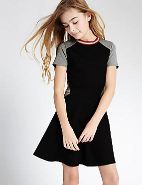 Colour Block Dress (3-14 Years)