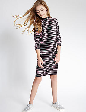 Striped Dress with StayNEW™ (3-14 Years)