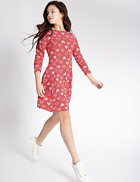 Printed Dress with StayNEW™ (3-14 Years)