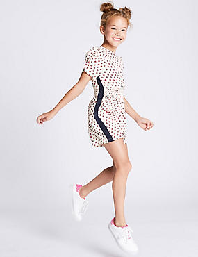 All Over Print Playsuit (3-16 Years), WHITE MIX, catlanding