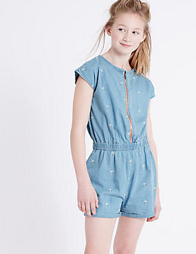 Denim Playsuit (3-14 Years)