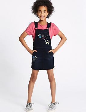 2 Piece Pinafore & Top Outfit (3-16 Years)