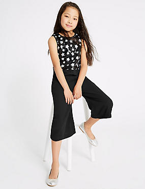 Star Sequin Jumpsuit (3-16 Years), BLACK, catlanding