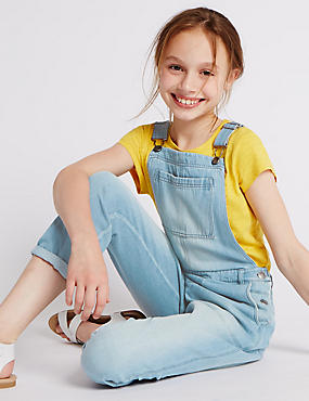 Pure Cotton Denim Dungarees (5-14 Years)
