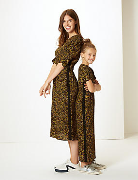 Leopard Jumpsuit (3-16 Years), TAN, catlanding