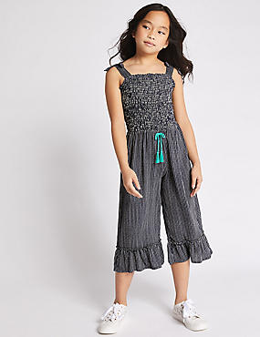 Striped Jumpsuit (3-16 Years), NAVY, catlanding