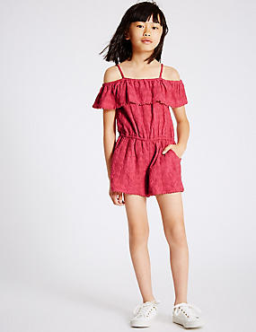 Pure Cotton Playsuit (3-14 Years)