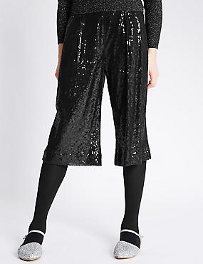 Sequin Culottes with Adjustable Waist (5-14 Years)
