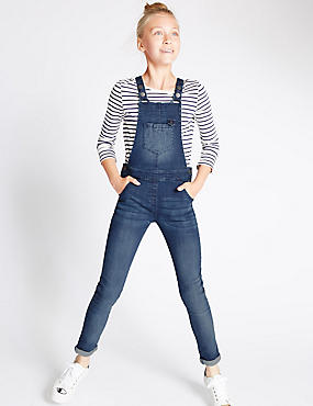 Cotton Rich Denim Dungarees (3-14 Years)