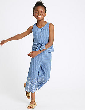 2 Piece Top & Bottom Outfit (3-16 Years), BLUE MIX, catlanding