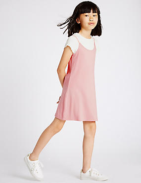 2 Piece Dress & T-Shirt Outfit (3-14 Years)