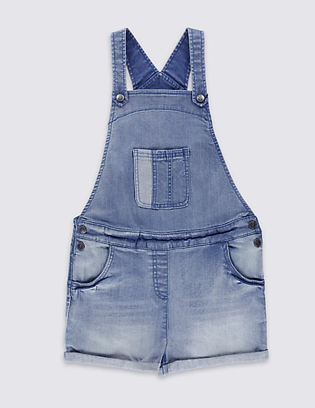 Cotton Denim Dungarees with Stretch (3-14 Years)