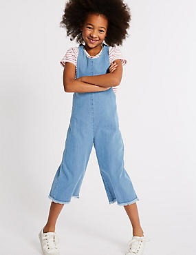 2 Piece Denim Jumpsuit & Top Outfit (3-16 Years)