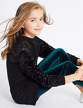 Velvet Longline Top & Leggings Outfit (3-14 Years)