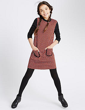 Dogtooth Print High Neck Outfit (5-14 Years)