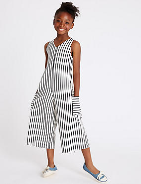 Jersey Jumpsuit (3-16 Years), WHITE MIX, catlanding