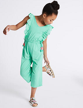 Pure Cotton Frill Jumpsuit (3-16 Years)