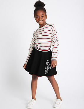 2 Piece Top & Embroidered Skirt Outfit (3-14 Years)