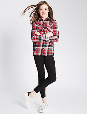 2 Piece Checked Shirt & Leggings Outfit (5-14 Years)