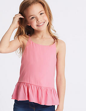 Woven Frill Hem Vest Top (3-16 Years)