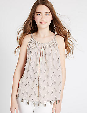 Giraffe Print Vest Top (3-14 Years)