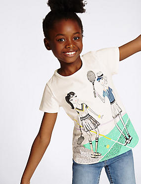 Pure Cotton Printed Top (3-14 Years)