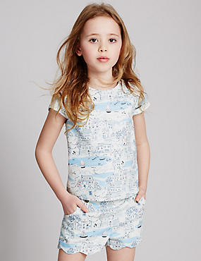 Cotton Rich Scenic Print Top (3-14 Years)