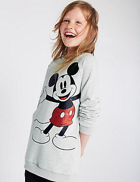 Round Neck Mickey Mouse Sweatshirt (5-14 Years)